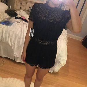 NWT Black Lace Romper!